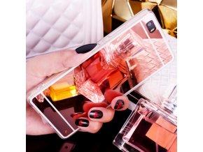 Zrcadlový silikonový kryt na Huawei P8 Lite - Růžový