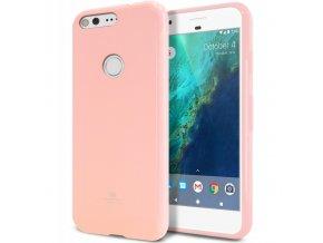 Perleťově zbarvený jelly case mercury na Honor 7X světle růžový