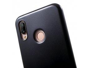 Perleťový gelový obal na Huawei P20 lite - černý
