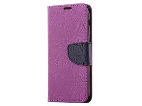PU kožené pouzdro na Sony Xperia XA2 - fialové