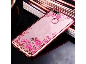 Květinový kryt na Huawei Y7 Prime 2018 růžový
