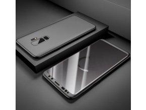 360 oboustranný kryt s TVRZENÝM SKLEM na Samsung Galaxy A6  - černý