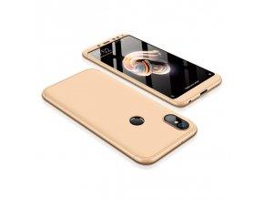 360 oboustranný kryt na Xiaomi redi Note 5 zlatý
