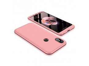 360 oboustranný kryt na Xiaomi redi Note 5 růžový