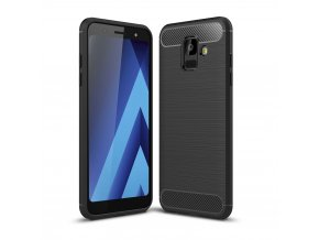 Matný carbon styl kryt na Samsung Galaxy A6 titulka