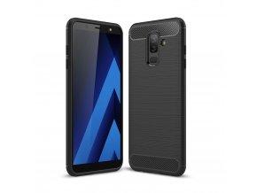 Matný carbon styl kryt na Samsung Galaxy A6 plus černý titulka