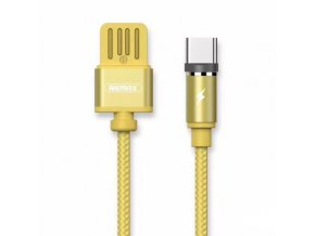 eng pl Remax Gravity RC 095a Magnetic USB USB Type C Cable with LED Light 1M 2 1A gold 38705 1