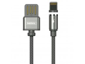 eng pl Remax Gravity RC 095i Magnetic USB Lightning Cable with LED Light 1M 2 1A black 35744 8