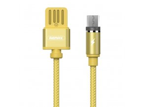 eng pl Remax Gravity RC 095m Magnetic USB micro USB Cable with LED Light 1M 2 1A gold 38708 1