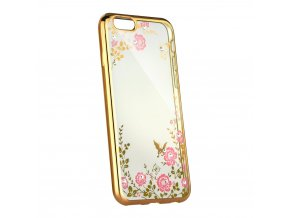 Květinový kryt na Sony XZ2 Compact zlatý