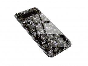 Skleněný luxusní Marble kryt na Samsung Galaxy Note 8 - černý