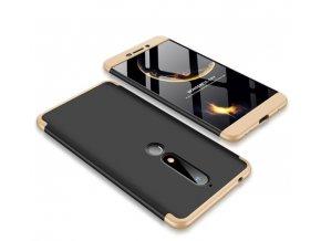 oboustranný kryt 360 na Nokia 6.1 zlatočerný tit