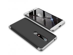 oboustranný kryt 360 na Nokia 6.1 stříbrnočerný tit