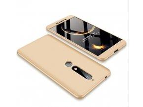 oboustranný kryt 360 na Nokia 6.1 zlatý tit
