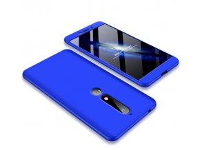 oboustranný kryt 360 na Nokia 6.1 modrý tit