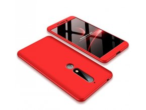 oboustranný kryt 360 na Nokia 6.1 červený tit
