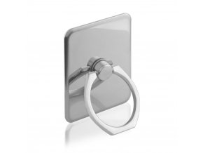 eng pl Metal ring holder for smartphone and tablet pattern 3 silver 13538 1