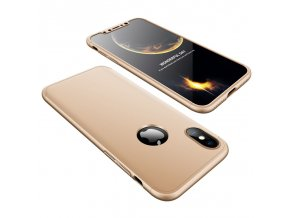 eng pl 360 Protection Front and Back Case Full Body Cover iPhone X gold 35317 1