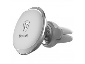 eng pl Baseus Magnetic Air Vent car mount holder with cable clip white 27426 1