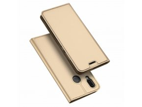 eng pl DUX DUCIS Skin Pro Bookcase type case for Huawei P20 Lite golden 42322 1