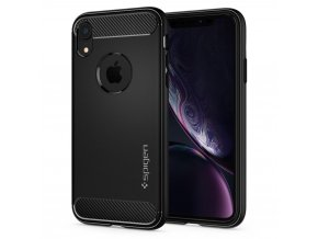 eng pl Spigen Rugged Armor Case Durable Flexible Cover for iPhone XR black 064CS24871 42984 1