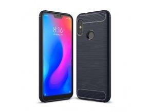 eng pl Carbon Case Flexible Cover TPU Case for Xiaomi Mi A2 Lite Redmi 6 Pro blue 42480 1