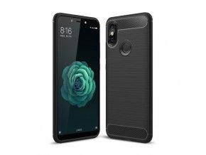 eng pl Carbon Case Flexible Cover TPU Case for Xiaomi Mi A2 Mi 6X black 42476 1