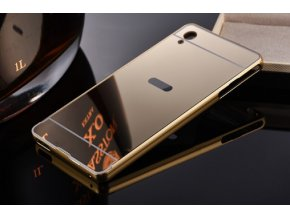 Zrcadlový kryt Sony Xperia M4 Aqua zlaty