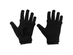 eng pl Touchscreen Winter Gloves 2in1 Striped and Fingerless Gloves Wrist Warmers black 27072 6