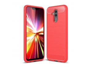 eng pl Carbon Case Flexible Cover TPU Case for Huawei Mate 20 Lite red 44459 1