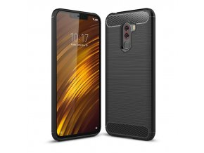 eng pl Carbon Case Flexible Cover TPU Case for Xiaomi Pocophone F1 black 44464 1