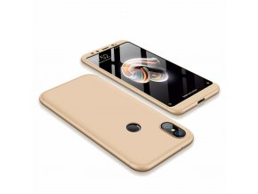 eng pl 360 Protection Front and Back Case Full Body Cover Xiaomi Mi A2 Mi 6X golden 45188 1