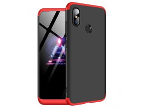 eng pl 360 Protection Front and Back Case Full Body Cover Xiaomi Mi 8 SE black red 41865 1