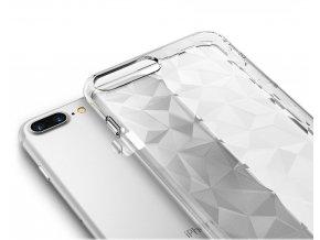 Silikonový diamantový kryt na iPhone 6 / 6S - transparentní