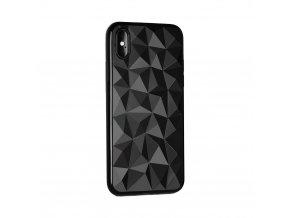 Silikonový diamantový kryt na iPhone XR - černý