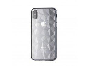 Silikonový diamantový kryt na iPhone XS Max - transparentní