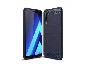 eng pl Carbon Case Flexible Cover TPU Case for Samsung Galaxy A7 2018 A750 blue 45516 1