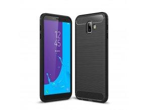 eng pl Carbon Case Flexible Cover TPU Case for Samsung Galaxy J6 Plus 2018 J610 black 45518 1