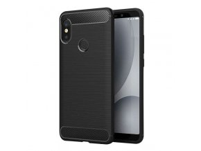 eng pl Carbon Case Flexible Cover TPU Case for Xiaomi Redmi Note 5 dual camera Redmi Note 5 Pro black 42446 1