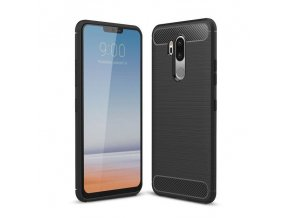 eng pl iPaky Slim Carbon Flexible Cover TPU Case for LG G7 ThinQ black 42659 1