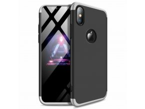 eng pl 360 Protection Front and Back Case Full Body Cover iPhone XR black silver logo hole 45688 1