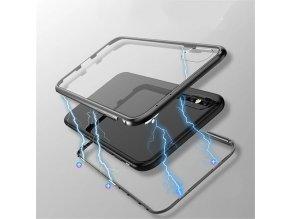 Magnetický oboustranný kryt na Samsung Galaxy S9 - černý