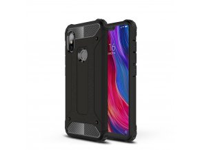 eng pl Hybrid Armor Case Tough Rugged Cover for Xiaomi Redmi Note 6 Pro black 46236 1
