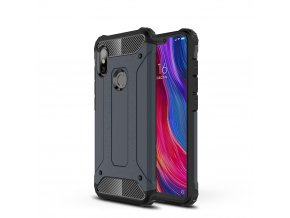 eng pl Hybrid Armor Case Tough Rugged Cover for Xiaomi Redmi Note 6 Pro blue 46237 1