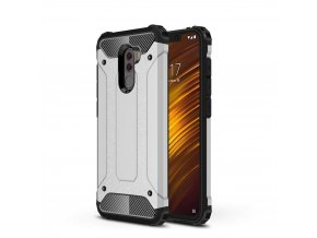 eng pl Hybrid Armor Case Tough Rugged Cover for Xiaomi Pocophone F1 silver 46251 1