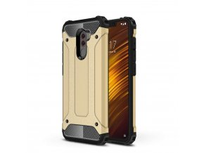 eng pl Hybrid Armor Case Tough Rugged Cover for Xiaomi Pocophone F1 golden 46250 1