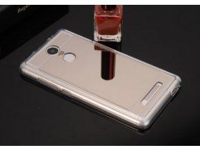 silikonový zracadlový obal na Xiaomi redmi note 3 stříbrný
