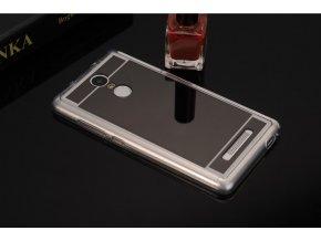 zrcadlový silikonový kryt na xiaomi redmi 3s černý