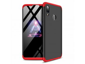 eng pl 360 Protection Front and Back Case Full Body Cover Huawei P Smart 2019 black red 47423 1