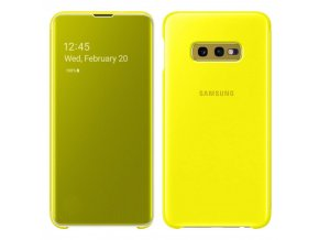 eng pl Samsung Clear View Cover with Intelligent Display for Samsung Galaxy S10e yellow EF ZG970CYEGWW 47881 1